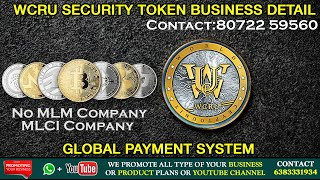 WCRU Security Token Crypto Currency Business Detail | Whatsapp | Youtube Promotion | Sindubaadh Tips