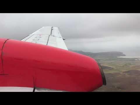 Saab 340b | Loganair | Approach and landing at Stornoway