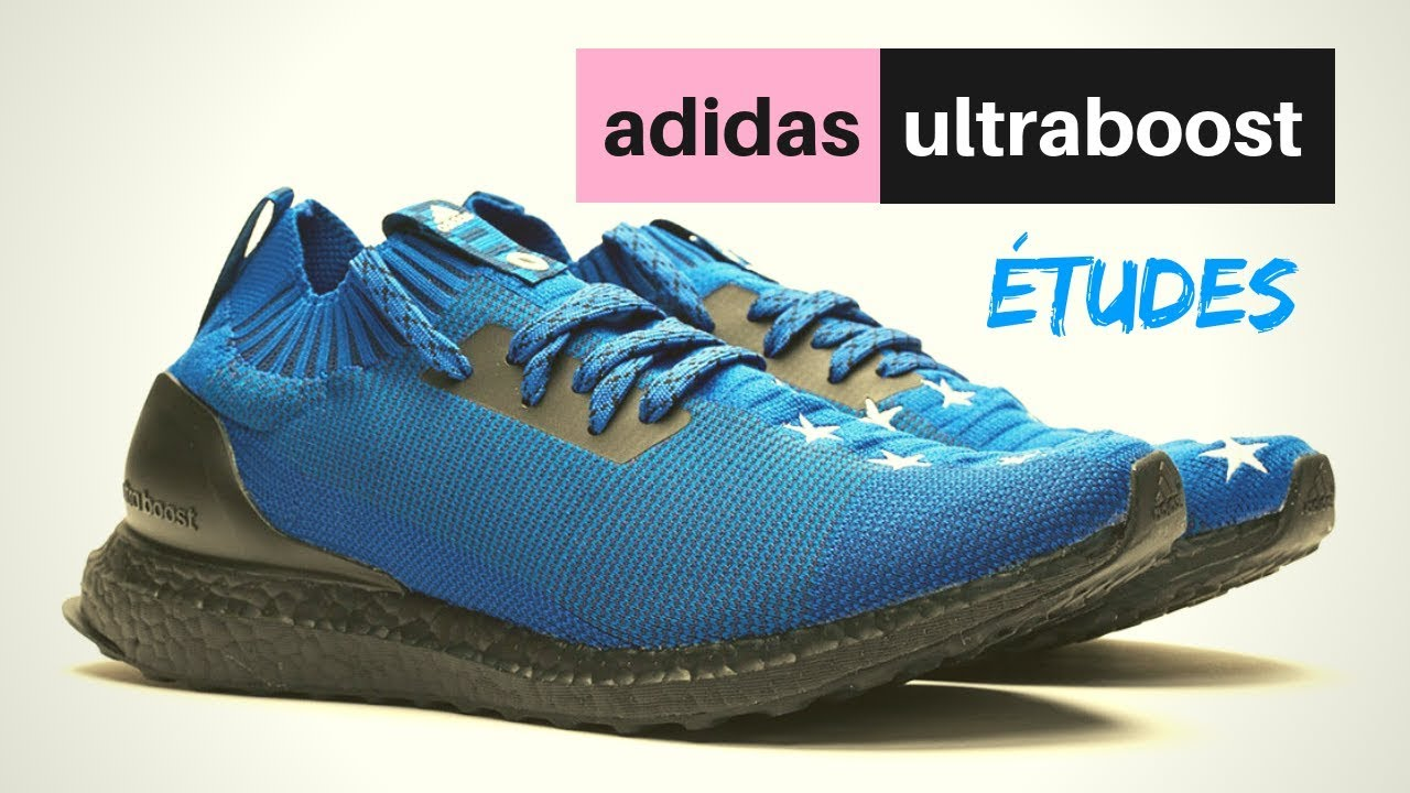 c00fec92204 Great Collaborations Études adidas Ultra Boost Uncaged Blue - YouTube