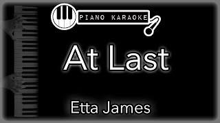 At Last - Etta James - Piano Karaoke Instrumental