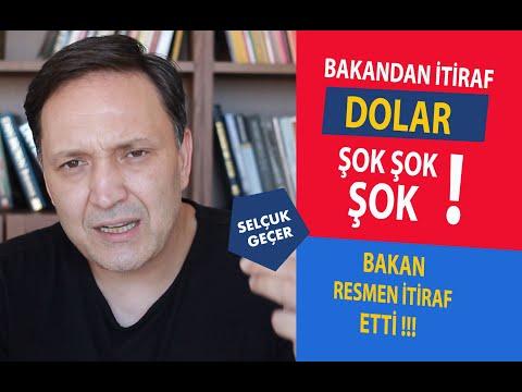 BAKANDAN İTİRAF DOLAR  ŞOK ŞOK ŞOK !!!