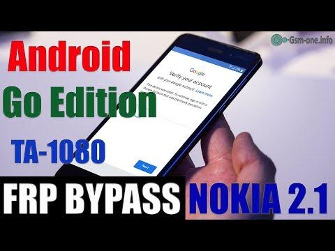(free) FRP Byass NOKIA 2.1 (TA-1080) Android  8.1 (Go Edition)