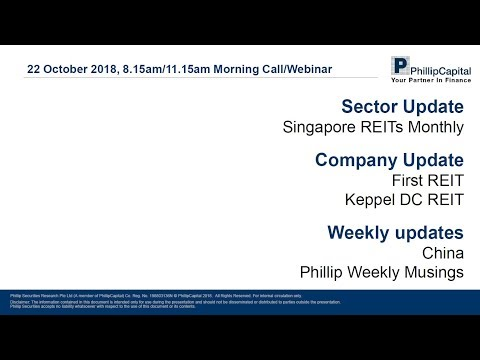 Market Outlook: Singapore REITs monthly, company updates and weekly updates