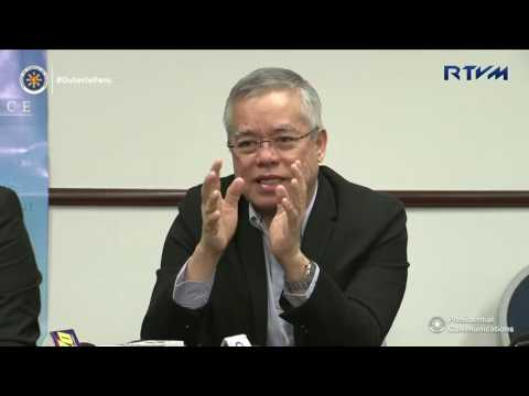 Press Briefing of DTI Secretary Ramon Lopez and NSA Secretary Hermogenes Esperon 11/20/2016