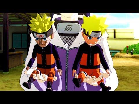Hinata makes dolls for Naruto and Mecha Naruto - Naruto Shippuden Ultimate Ninja Storm Revolution |