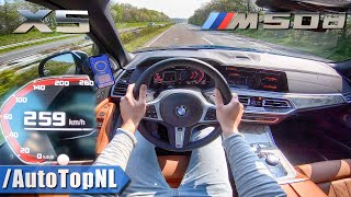 NEW! BMW X5 M50d G05 3.0 QUAD-TURBO 259km/h AUTOBAHN POV TOP SPEED by AutoTopNL