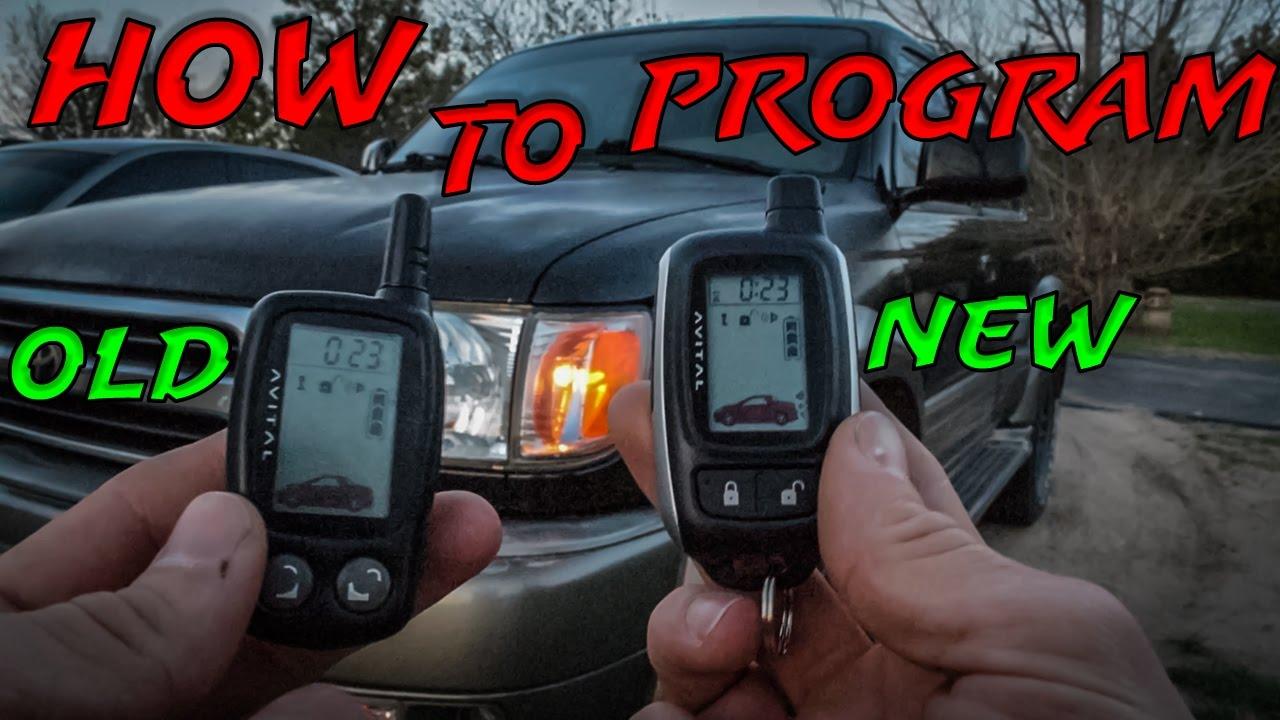 how to program a new avital remote youtube rh youtube com