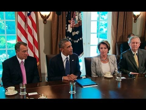 President Obama Meets with Members of Congress