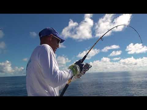 kobi natan seychelles 2017 spotted trevally+live hookset