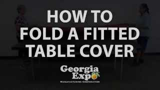 How to Fold a Fitted Table Cover Georgia Expo