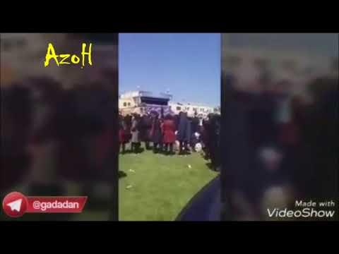 تبریز: سرداده شدن شعارهای ملی در حین سخنرانی روحانی