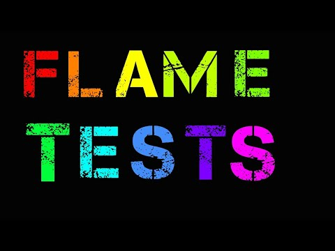 Flame Tests of different cations