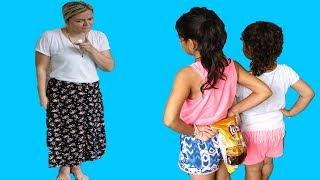 Masal,Öykü and Mommy Hide and Seek - Johny Johny Yes Papa Fun Kids