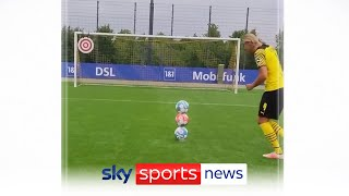 Erling Haaland shows unbelievable skill during Dortmund training session