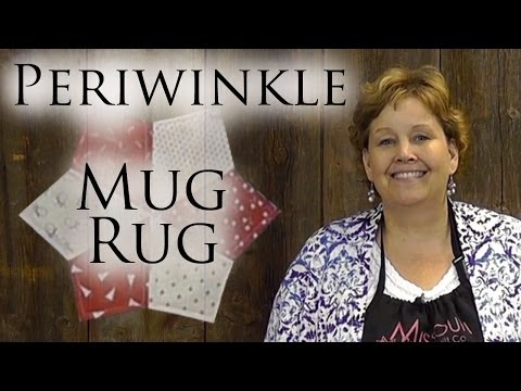 Periwinkle Mug Rug: An Easy 4th Of July Quilting Project
