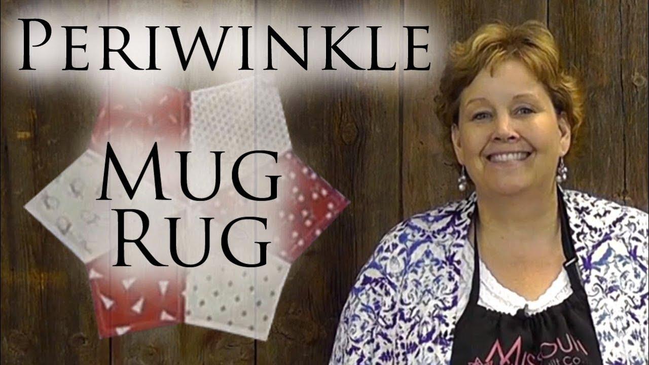 Periwinkle Mug Rug: An Easy 4th of July