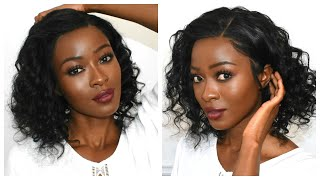 The Low Maintenance Wavy Bob  Lacefront Wig | HJ  Weave Beauty Hair