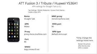 at straight talk apn settings for tribute fusion 3