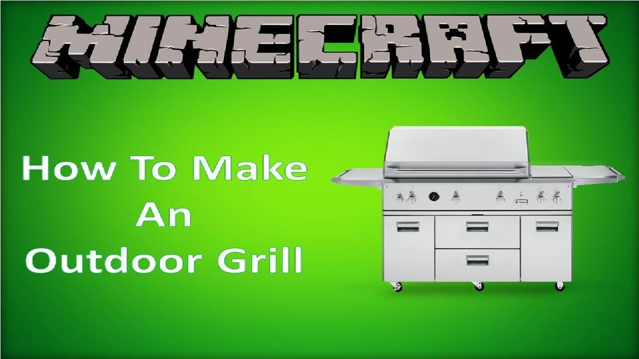 minecraft how to make an outdoor grill tutorial youtube