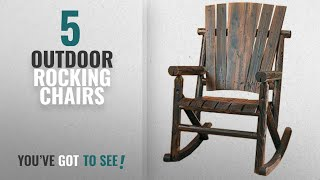 Top 10 Outdoor Rocking Chairs [2018]: Char-Log Single Rocker