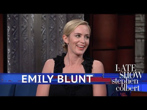 Stephen Colbert vs. Emily Blunt Finds Idea of Mary Poppings A Little Creepy