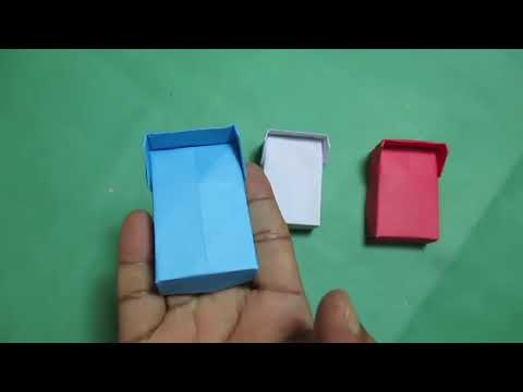 DIY - How to Make Easy Origami Bed for Doll / paper bed/ origami.