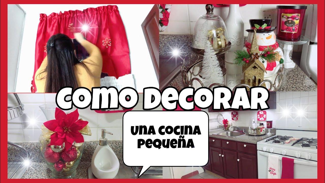IDEAS PARA DECORAR TU COCINA EN NAVIDAD/COMO DECORAR UNA COCINA  PEQUEÑA/DECORACIONES NAVIDEÑAS
