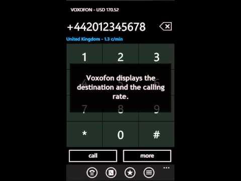 Voxofon VoIP App Windows Phone 7 .. Call Skype Or International