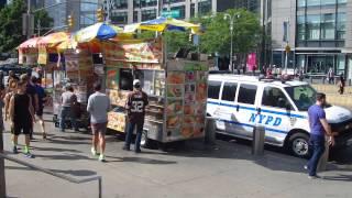 Columbus Circle Food Carts New York City Sept 2015