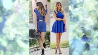 С чем носить синее платье / What to wear blue dress