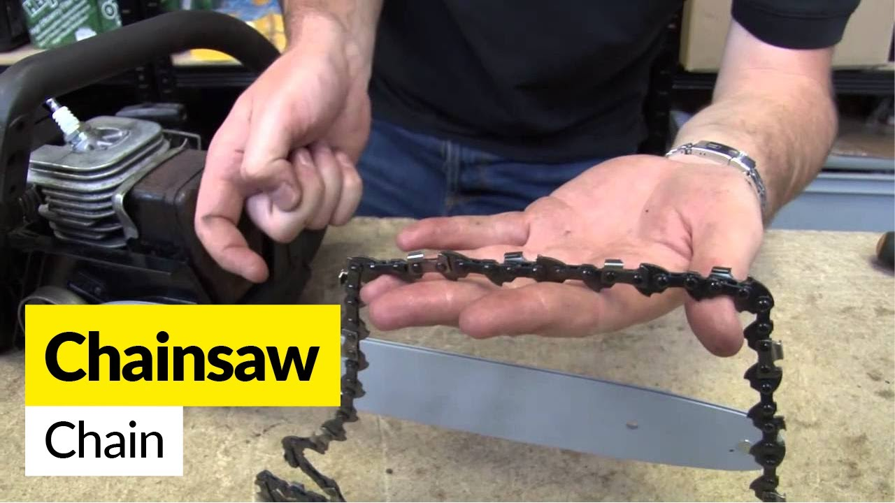 How to fit a replacement chainsaw chain youtube how to fit a replacement chainsaw chain greentooth Images