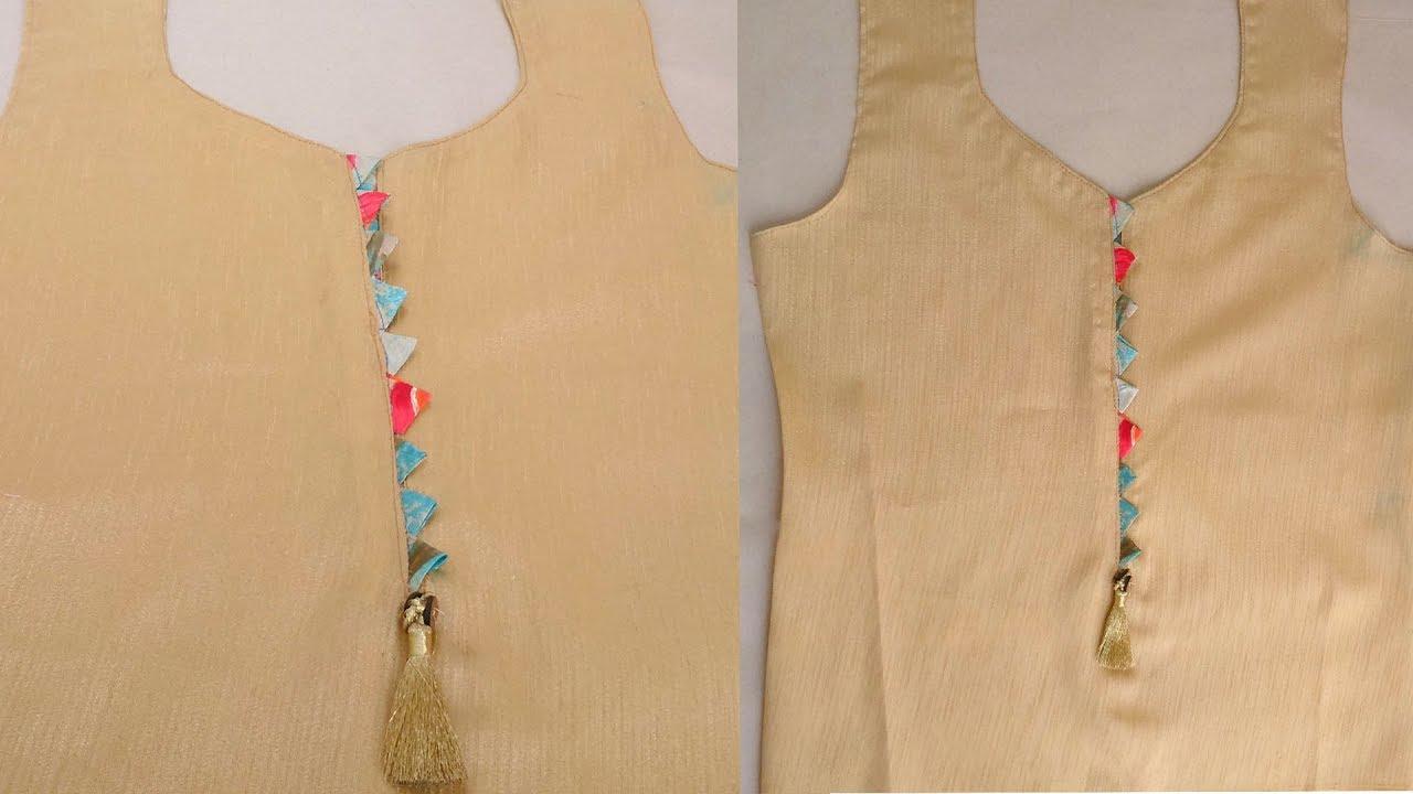 193edcb0b71c82 Kurti neck design cutting and stitching   Beautiful neck design for kurti /  kameez / churidar