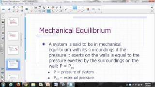 Physical Chemistry Lecture: Chemical Thermodynamics