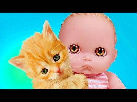 Куклы Пупсики завели питомцев Мама купила кошечек и собачку Sweet Box. Игрушки для девочек Зырики ТВ
