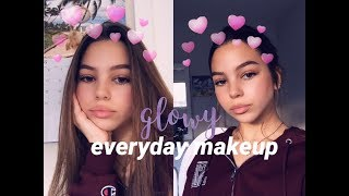 glowy everyday makeup grwm 2018