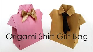 シャツ型ギフトバッグ Origami Shirt Bag