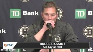 Bruce Cassidy On Taylor Hall's Confidence After Two Weeks With Bruins