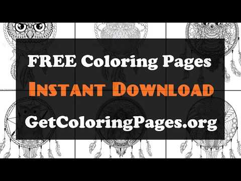 Dream Catcher Coloring Sheets Youtube