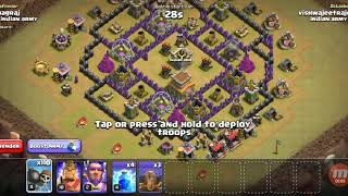 Funny attack / 110 wall breakers Vs town hall 8