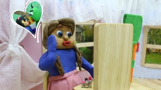 Blue Baby MAKE UP TIME - Play Doh & Clay Stop Motion Cartoons For Kids