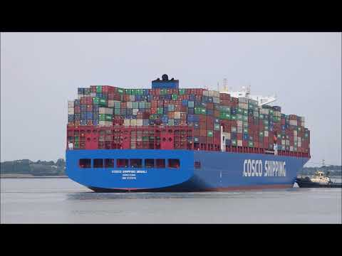 Maiden voyage Cosco Shipping Denali arrives to the Port of Felixstowe laden from Singapore 190718
