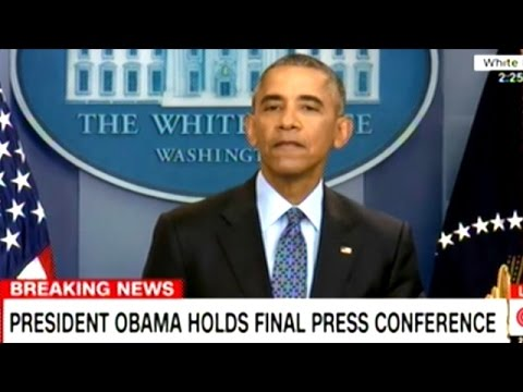 """GOOD LUCK!"" Barack Obama's Final Press Conference As President Of The United States"