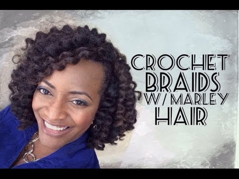 Crochet Hair Youtube : 55 Crochet Braids with Marley Hair - YouTube
