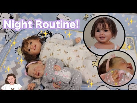 Reborn Night Routine with Toddler Nora and Baby Hazel! | Kelli Maple