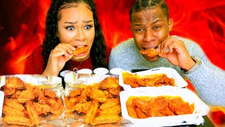 2X NUCLEAR CHICKEN SPICY WINGS MUKBANG CHALLENGE