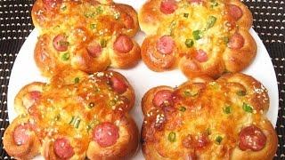How to Make Super Soft and Moist Chinese Bakery Buns / Milk Bread Flower / Hot Dog Buns 花型香腸麵包