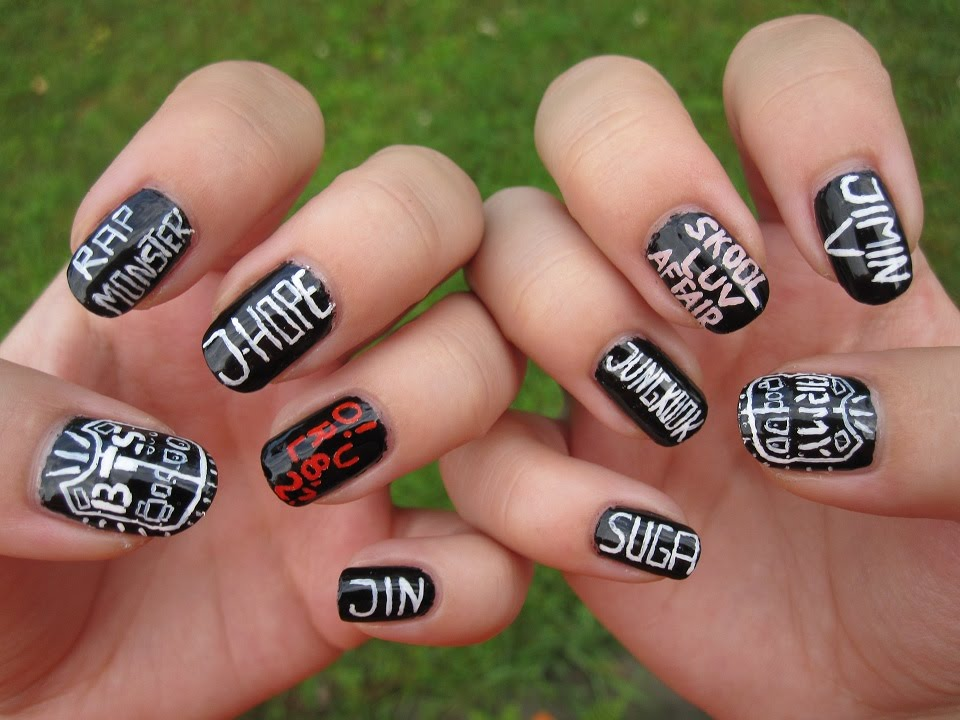 kpop bts bangtan boys nail art