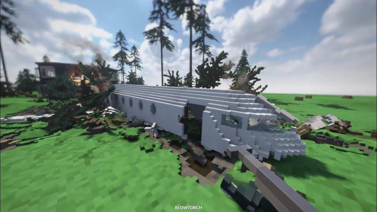 Teardown - Plane CRASH (Fire Physics #48)