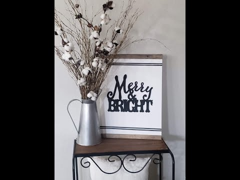Merry and Bright Dollar Tree wall art