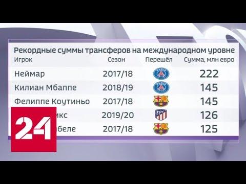 Футбол. Стоимость игроков может упасть на треть из-за мировых катаклизмов - Россия 24